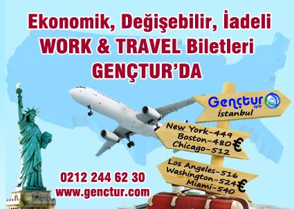 2014 Özel İndirimli Work And Travel Uçak Bileti Fiyatları Açıklandı...
