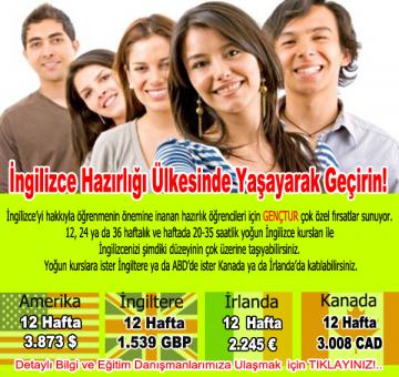 İngilizce Hazırlığı Ülkesinde Yaşayarak Geçirin!