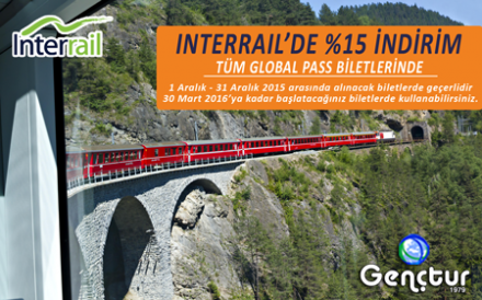 InterRail'de 2015'in Son Fırsatı
