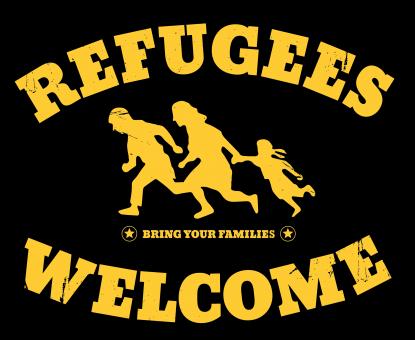 """""""Mülteciler Hoşgeldiniz"""" Afişi"""
