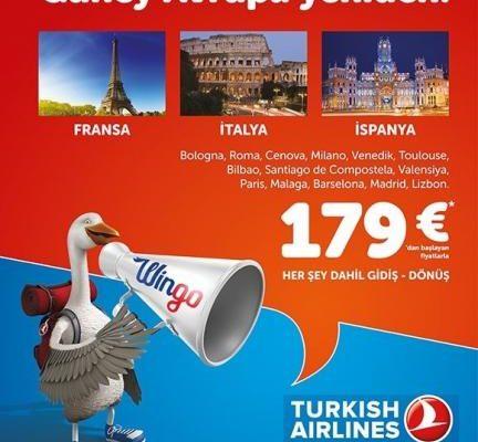 Türkiye Hava Yolları 179 Euro