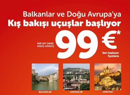 Ukrayna, Balkanlar, Kafkaslar 99.-€