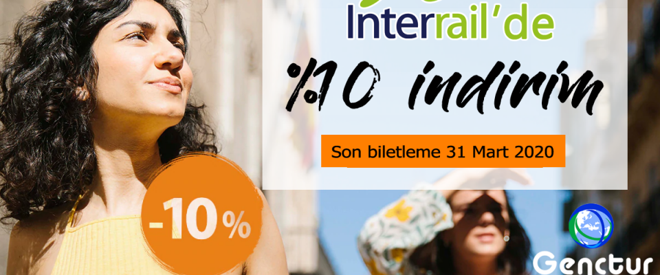 Interrail'de %10 Bahar İndirimi